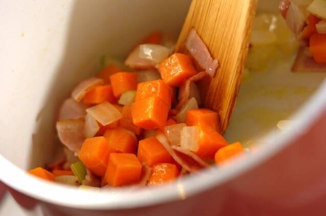ベーコンと豆のスープの作り方の手順2