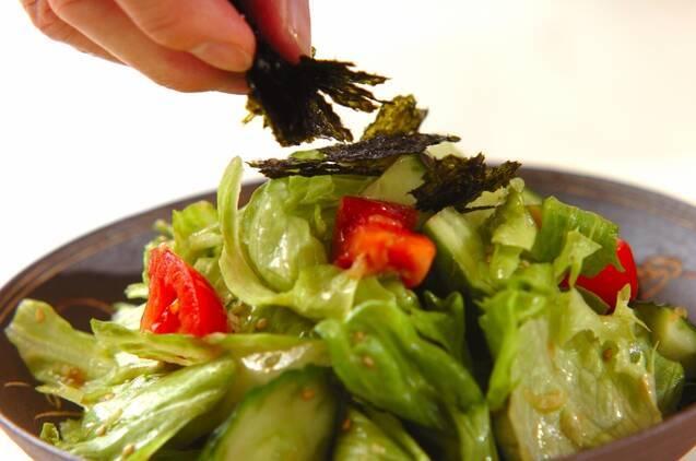 レタスのチョレギサラダの作り方の手順4