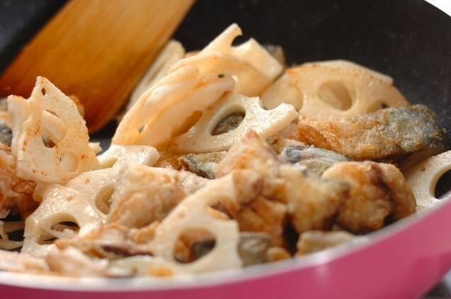 サバの中華風炒めの作り方の手順4