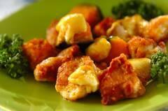 鶏肉とカボチャのチーズカレー炒め