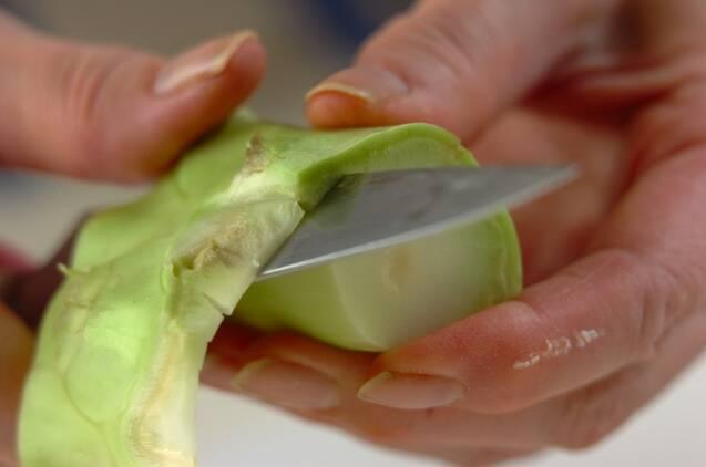 ブロッコリーの茎のポタージュの作り方の手順1