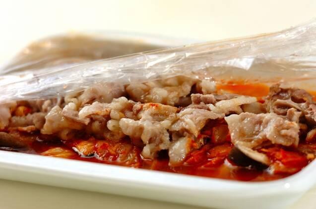 レンジ豚キムチの作り方の手順3