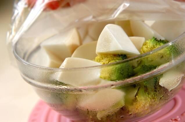 ブロッコリーとカブのサラダの作り方の手順2
