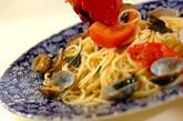 アサリとトマトのガーリックパスタの作り方5