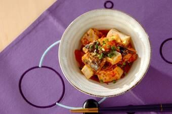 サバ缶のキムチ煮