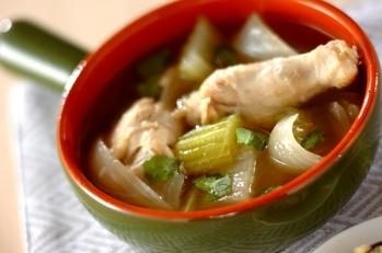 手羽元とセロリのスープ