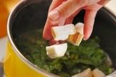 小松菜と麩の卵とじ丼の作り方2
