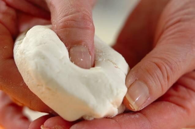 イチゴ甘酒汁粉の作り方の手順1