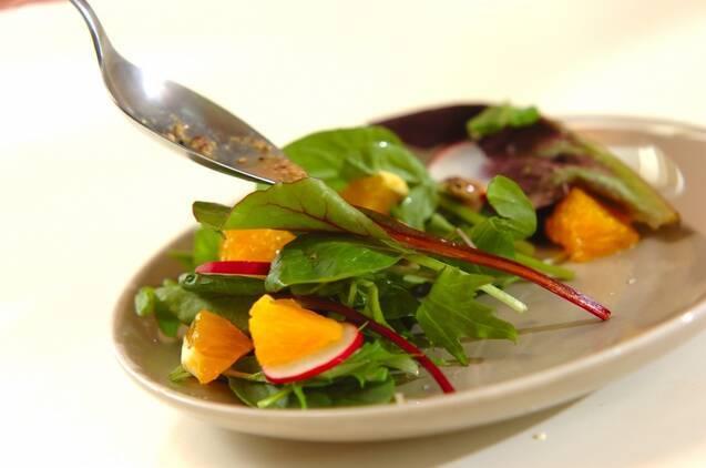 ラディッシュとオレンジのサラダの作り方の手順3