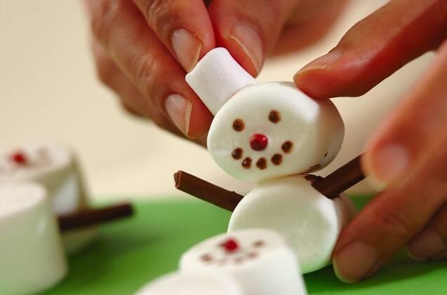 スノーマンクッキーの作り方の手順4