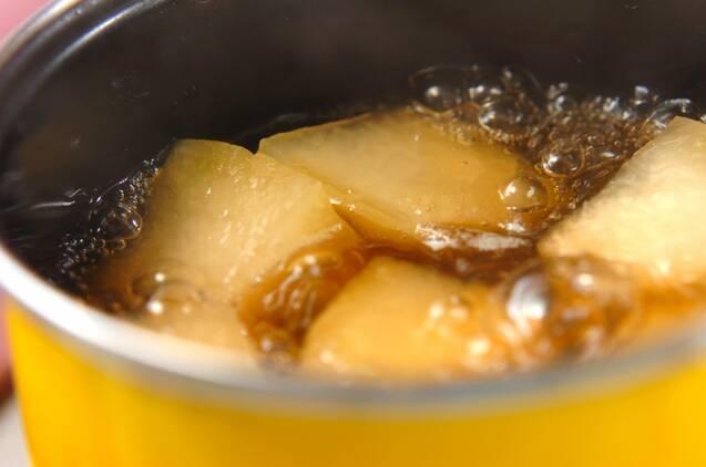 冬瓜とカニカマの煮物の作り方の手順3