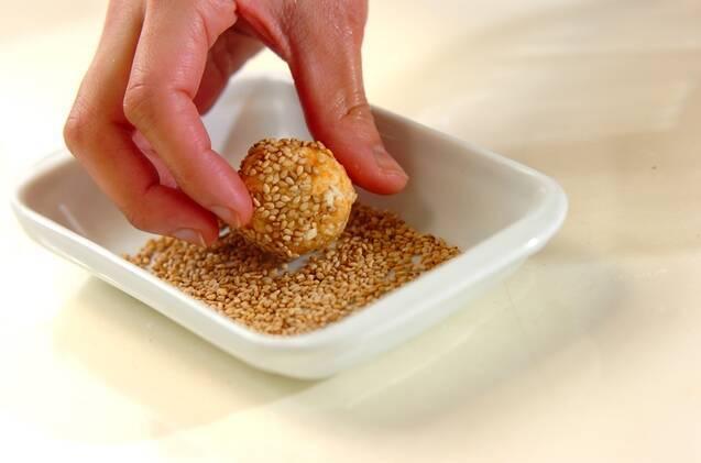ニンジンと豆腐のドーナツの作り方の手順3
