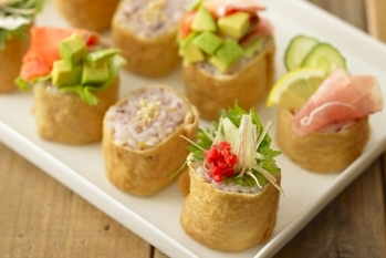 雑穀ひと口いなり寿司