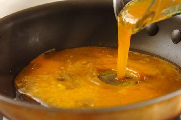 モヤシとザーサイのナムルの中華風オムレツの作り方の手順2