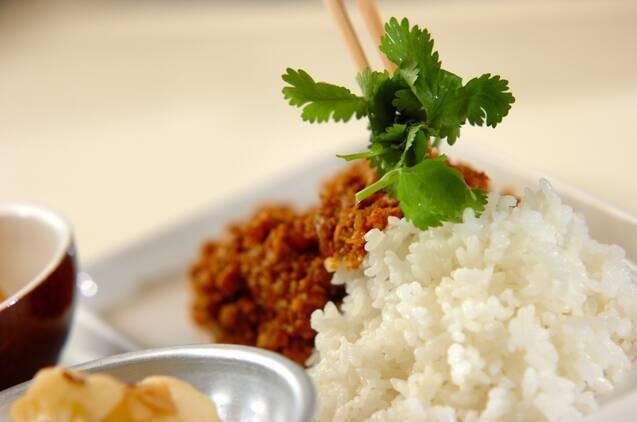 豆とひき肉のカレーの作り方の手順7