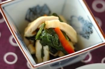 小松菜と油揚げの白だし煮