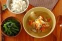鮭の酒粕みそスープの献立
