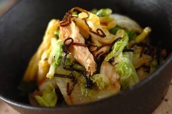 白菜とささ身の和え物