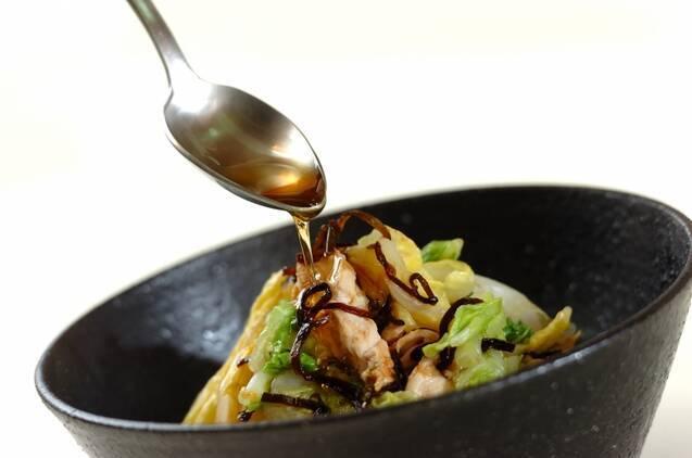白菜とささ身の和え物の作り方の手順3
