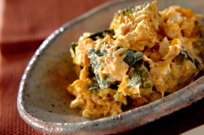4. カボチャと卵のサラダ