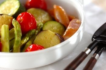 夏野菜のオイル蒸し煮