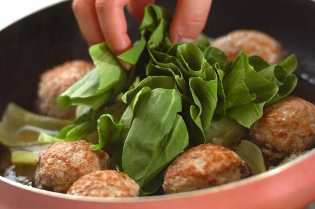 シイタケの肉詰めオイスターあんの作り方の手順6
