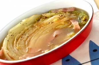 焼き白菜のスープ