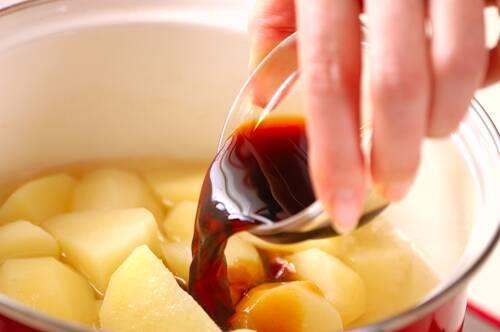 ジャガイモの甘煮の作り方の手順3