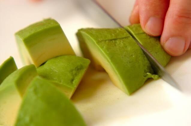 アボカドと豆腐のピリ辛和えの作り方の手順1