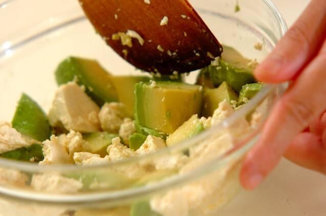 アボカドと豆腐のピリ辛和えの作り方の手順3