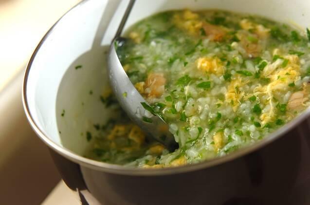アサリとショウガの七草粥の作り方の手順4