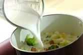 白菜とブロッコリーのクリームスープの作り方2