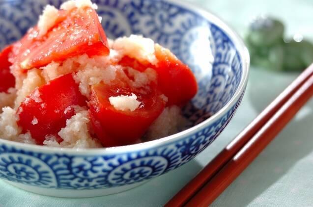 冷トマトの中華みぞれ和え