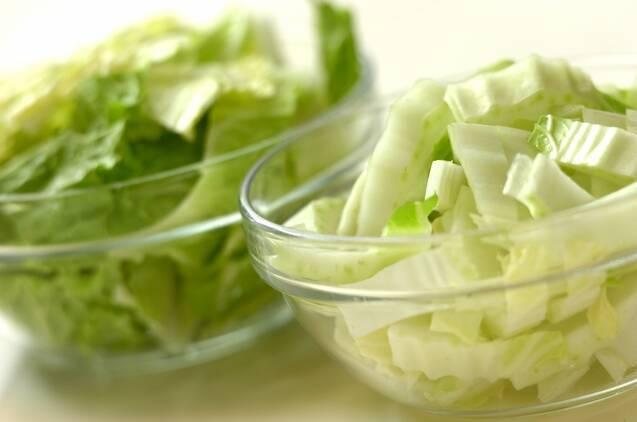 ご飯がすすむ!麻婆白菜の作り方の手順1