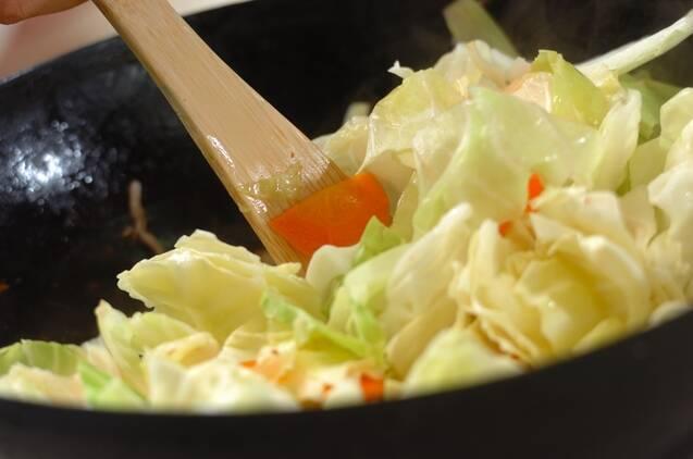 豚肉とキャベツの炒め物の作り方の手順5