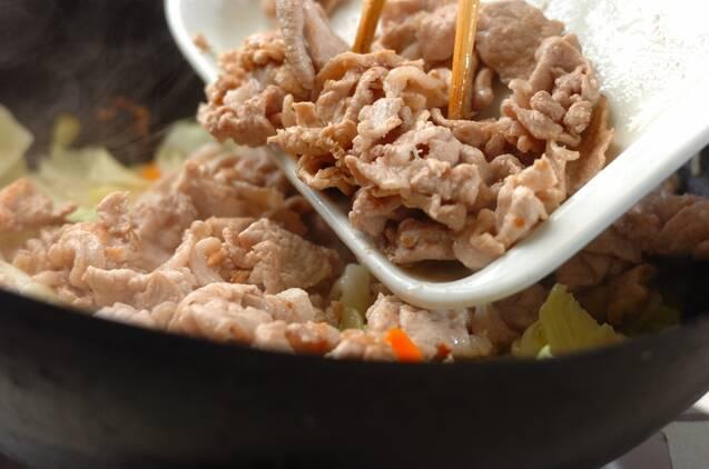 豚肉とキャベツの炒め物の作り方の手順6