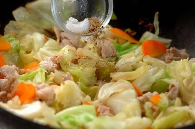 豚肉とキャベツの炒め物の作り方の手順7