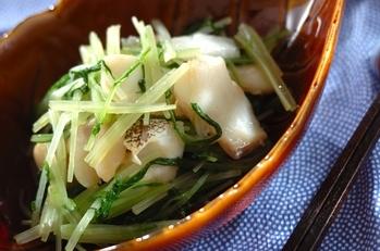 白身魚と水菜のポン酢和え