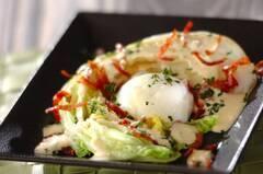 焼き白菜のシーザーサラダ