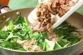 ほうれん草の牛肉卵炒めの作り方7