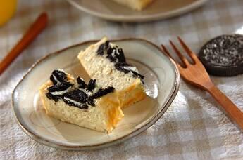ザクザククッキー入りバナナチーズケーキ