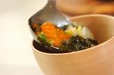 白菜とニンジンのみそ汁の作り方2