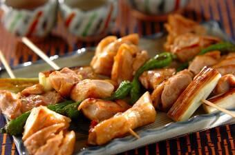 鶏の串焼き・ユズコショウ風味