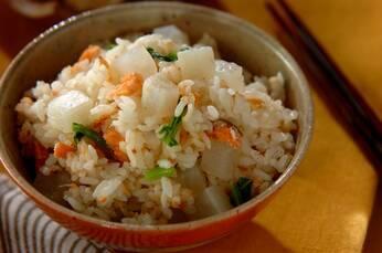 鮭と大根の炊き込みご飯