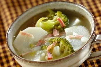 ブロッコリーとカブのスープ