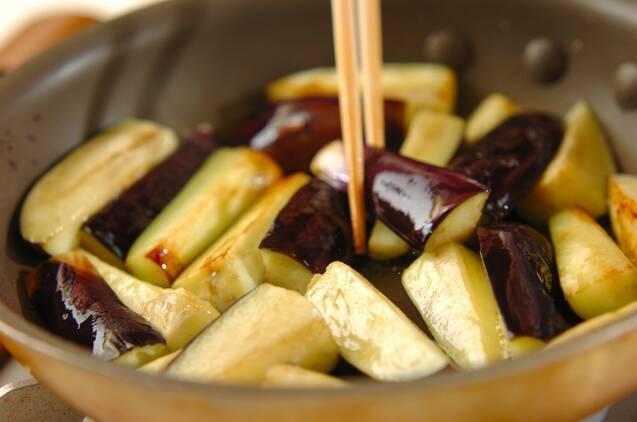 ボリューム満点!豚しゃぶと揚げナスの素麺の作り方の手順2