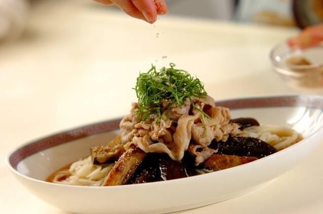 ボリューム満点!豚しゃぶと揚げナスの素麺の作り方の手順6
