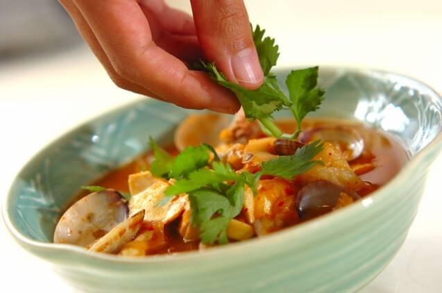 アサリと豆腐のチゲの作り方の手順7