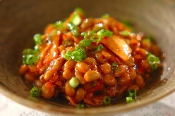 お手軽レシピ1:納豆キムチ