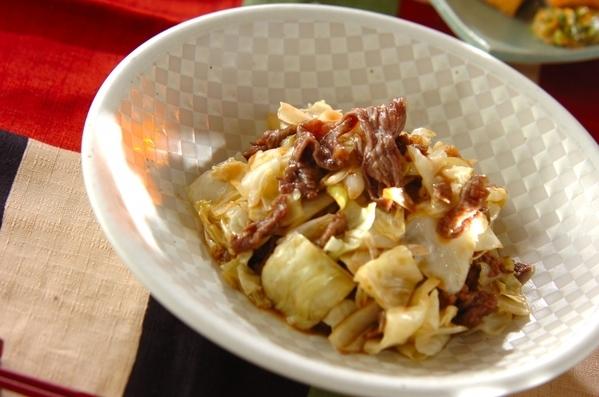 1. レンジキャベツと牛肉のオイスター炒め